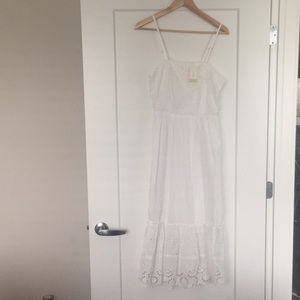 white dress- never worn , tags attached
